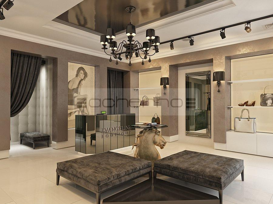 acherno innenarchitektur projekt boutique purpursamt. Black Bedroom Furniture Sets. Home Design Ideas